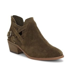Vince Camuto | Suede Perforated Ankle Booties